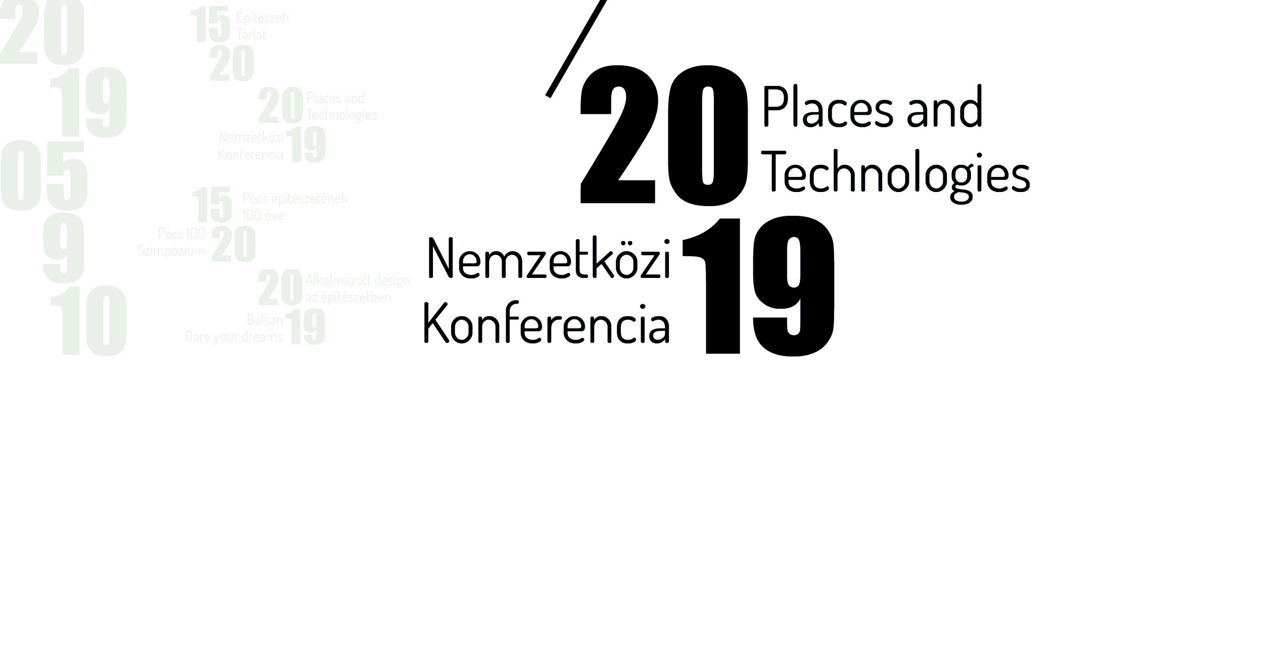 Places and Technologies 2019